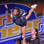 cheer stunt at competition